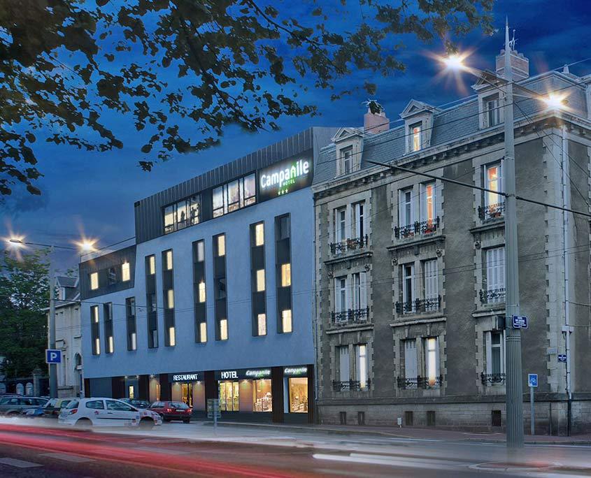 Façade de l'hôtel Campanile Limoges Centre-Gare