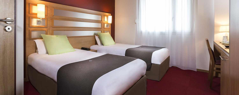 Chambre lits-jumeaux de l'hôtel Campanile Metz Nord - Talange
