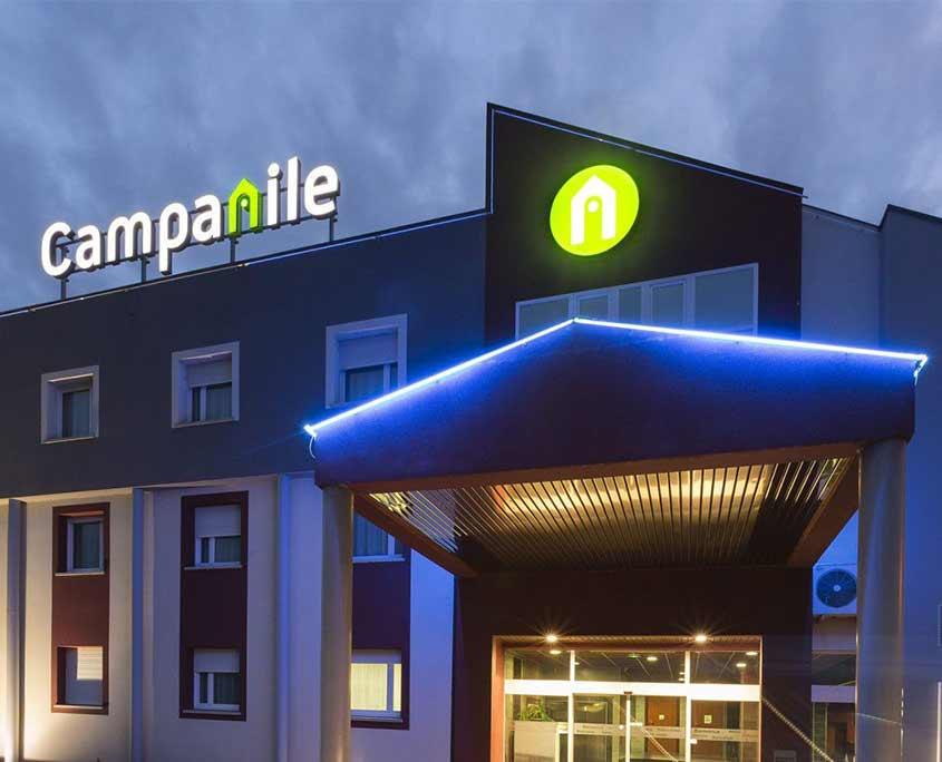 Façade de l'hôtel Campanile Metz Nord - Talange