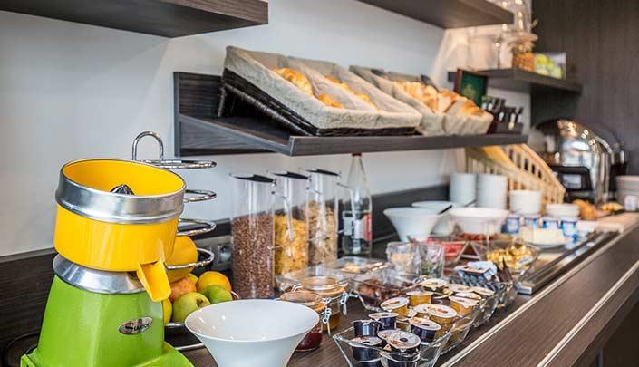 Petit-déjeuner de l'hôtel Campanile Metz Centre-Gare