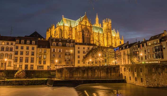 Vieille ville de Metz, à côté de l'hôtel Campanile Metz Centre-Gare