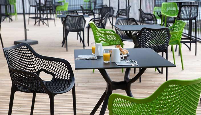 Terrasse de l'hôtel Campanile Metz Centre-Gare