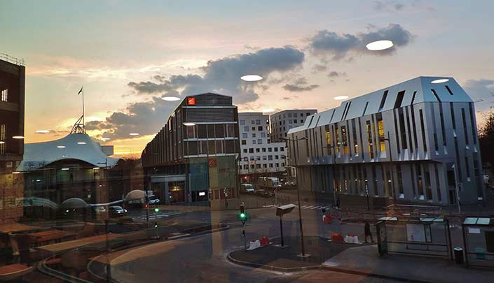 Quartier des affaires de Metz, à côté de l'hôtel Campanile Metz Centre-Gare