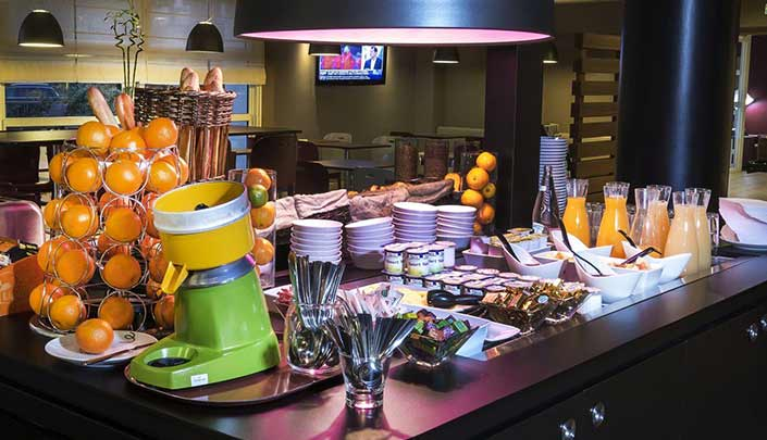 Petit-déjeuner de l'hôtel Campanile Reims Centre-Cathédrale