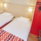 Chambre lits-jumeaux de l'hôtel Kyriad Rouen Sud - Val de Reuil