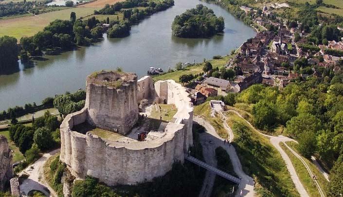 Vue de Château-Gaillard à proximité de l'hôtel Kyriad Rouen Sud - Val de Reuil