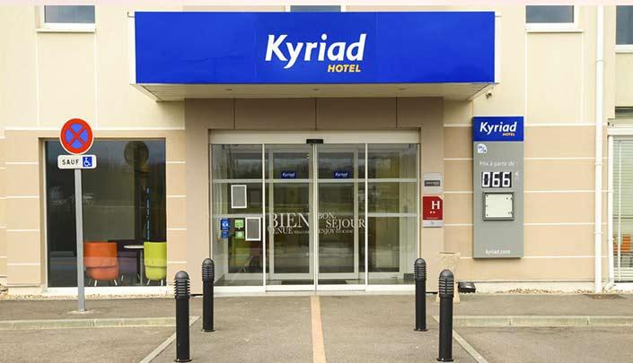 Entrée de l'hôtel Kyriad Rouen Sud - Val de Reuil