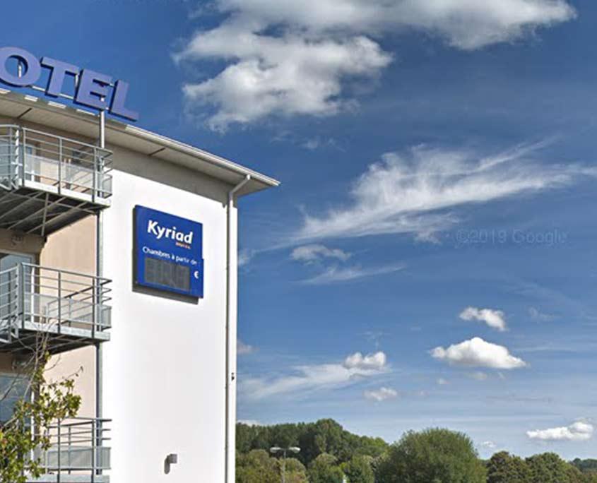 Extérieur de l'hôtel Kyriad Rouen Sud - Val de Reuil